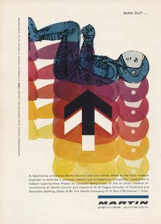 #advertising #color || The Modernist Nerd: Vintage Science Ads from the 1950s-1960s #space