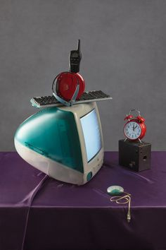 Tech Vanitas: Blue iMac : Jeanette May