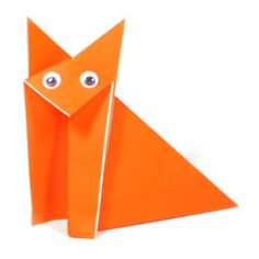 How to make a traditional sitting origami fox (http://www.origami-make.org/howto-origami-fox.php)