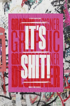 Typographic posters that look at the criticism designers face online
