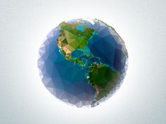 Triangled world #earth #triangle #polygons