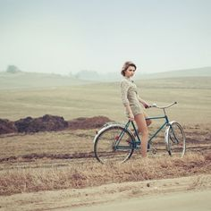 RAWZ #female #field #woman #bike