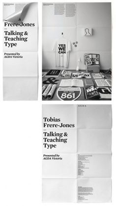 - artunion: Talking & Teaching Type This... #spread #layout #brochure #poster