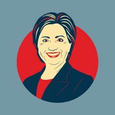 Hillary Clinton #illustration #clinton #election #vectorart #vector