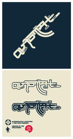 .A.U.T.O.M.A.T. logotype 47by =russoturisto #rifle #logotype #kalashnikov #logo #automatic