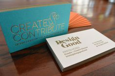 design_good Business Cards #business #branding #print #gold #cards