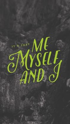 lockscreens no. 97 – me, myself, and I