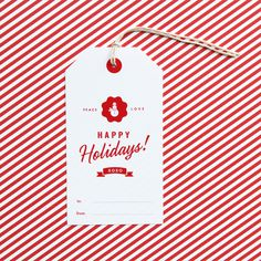 Eat Drink Chic #typography #christmas #hang tag
