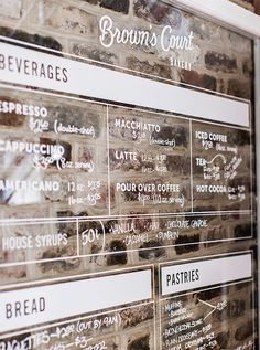 Brown's Court Bakery Menu | Nudge #design #typography #branding #stamp #bakery