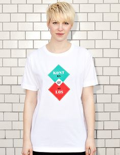CONTRASTLESS - women - white t-shirt | NATRI - Shirt Label #modern #print #design #shirt #minimal #fashion #type #typography