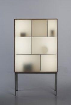 Displayaway   cabinet w/ led lighting by Norwegian designer Stine Knudsen Aas