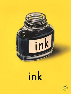 ink Art Print by Ladybird Books Easyart.com #print #design #retro #artprints #vintage #art #bookcover