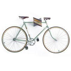 """Oak Wood Bike Hanger \""""Iceberg\"""" by Woodstick Ltd."""