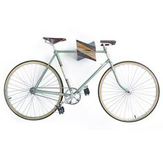 "Oak Wood Bike Hanger ""Iceberg"" by Woodstick Ltd. #wood #bike #hanger"