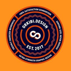 I made a sticker to stick on stuff. #thicklines #circles #iamadesigner #extrastrength #designstuff #stickers #orange #identitydesign