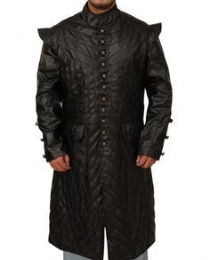 Toby Stephens Black Sails Trench Leather Coat