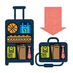 A series of illustration for Trunk Club about the benefits of the duffel bag. Art Director: Andy Schwegler