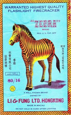 All sizes | Zebra Firecracker Brick Label | Flickr - Photo Sharing! #illustration #zebra #firecracker