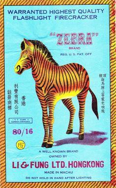 All sizes | Zebra Firecracker Brick Label | Flickr - Photo Sharing! #illustration #zebra #firecracker