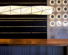 Sushi Restaurant with Origami Lights - #restaurant, restaurant, #lamp, #design, #lighting, lights, lighting design