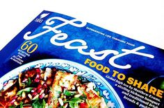 MagSpreads - Magazine Design and Editorial Inspiration: INTERVIEW - DAN PETERSON of SBS FEAST MAGAZINE #wordmark #sbs #food #cover #blue #magspreads #magazine #typography