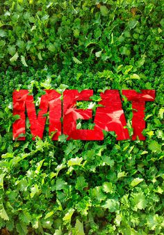 meat poster on Behance #lawn #raw #grass #design #graphic #meat #poster #italy