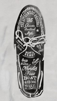 Design / Sperry Top-Sider Illustrations by Glenn Wolk, via Behance #typography