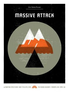 GigPosters.com - Massive Attack - Martina Topley Bird #doublenaut #gig #design #print #screen #illustration #poster