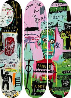 Jean-Michel Basquiat In Italian Skate Decks Screenprint on seven-ply Canadian maple