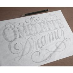 Omelette Dreamer by Adria Molins Design Barcelona - https://www.behance.net/adriamolins #calligraphy #lettering #drawing #dream #sweet #adria #elegant #adriamolins #grey #barcelona #molins #pencil #sketch #typography
