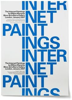 MM / Internet Paintings - Experimental Jetset #experimental #internet #poster #paintings #jetset