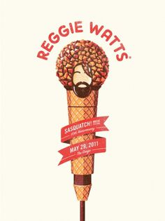 DKNG Studios » A Tasty New Poster for Reggie Watts #reggie #watts #posters #dkng