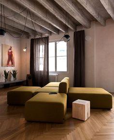 Bratislava Loft Apartment by Studio GutGut bratislava loft like space #interior #sofa #seat #concrete #design #furniture