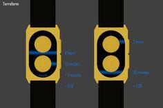 Terraform LED Watch #tech #amazing #modern #innovation #design #futuristic #gadget #ideas #craft #illustration #industrial #concept #art #cool
