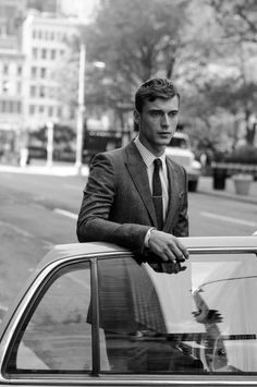 Clement Chabernaud Photographed by Sasha... | male model #white #black #men #and #fashion #man #suit