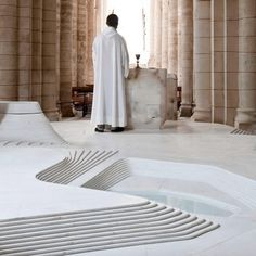 Dezeen » Blog Archive » St Hilaire church in Melle by Mathieu Lehanneur #groundplane #interiors #stone