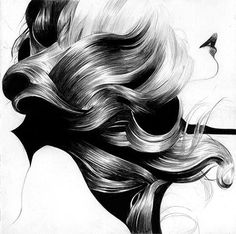 FFFFOUND! | hair_high.jpg (image) #hair #illustration #lip