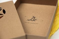 Eight Energy - TheDieline.com - Package Design Blog #die #cut #cardboard #color #simple #identity #spectrum #logo #band
