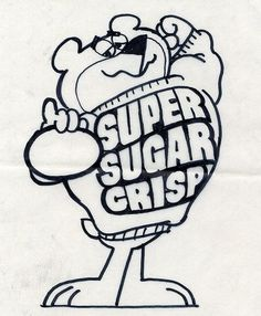 Sugar Bear concept art | Flickr - Photo Sharing! #illustration #vintage #sugar #crisp
