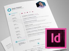 Free Indesign Resume Template for UI Designer