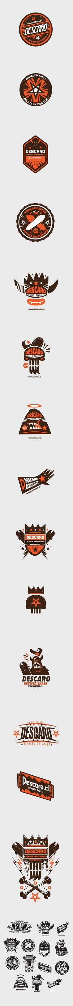 Logo collection Descaro skate Magazine by New Fren #design #graphic