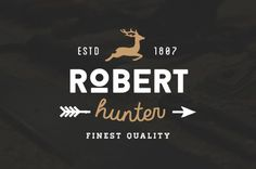 Robert Hunter #inspiration #deer #badge #hunter #design #retro #vintage #logo