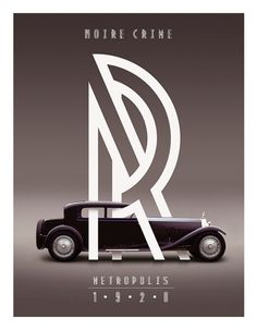 stream of consciousness #metropolis #vintage #poster #type #car