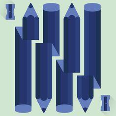 Lápiz random #vector #color #ilustracin #illustration #pencil