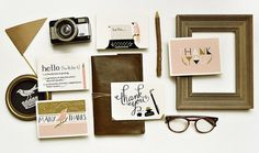 Quill & Fox Design #glasses #stationary #branding #you #thank #cards