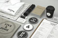 Five & Dime branding #logo #branding #restaurant