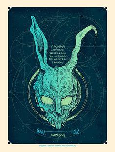 art design jake gyllenhaal Poster donnie darko frank movie poster #donnie darko #fear and love #frank