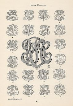 All sizes | Bergling Monograms | Flickr - Photo Sharing!