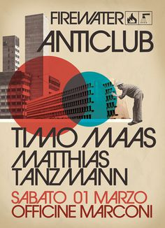 anticlub poster by nazario graziano
