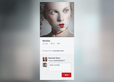 Minimal pinterest widget with avatar Free Psd. See more inspiration related to Avatar, Psd, Minimal, Pinterest, Horizontal, Freebie and Widget on Freepik.